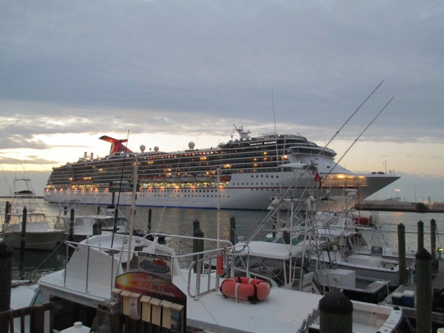 Carnival cruise ship departing last Friday evening