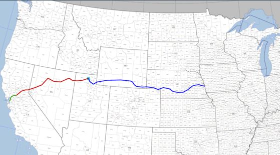 A Well Worn Transcontinental Route Panethos - Us-transcontinental-railroad-map