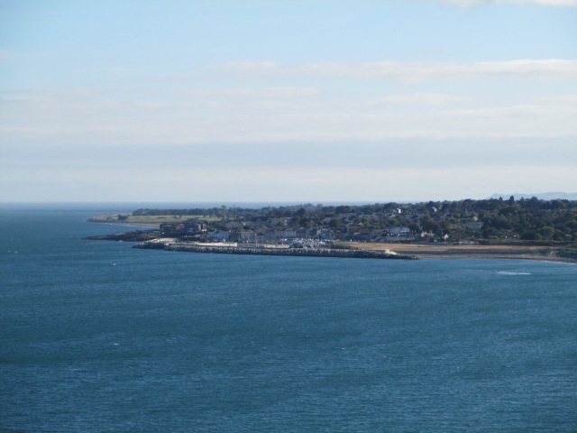Town of Greystones, south of Dublin from the Greystones-Bray Cliff Walk Trail