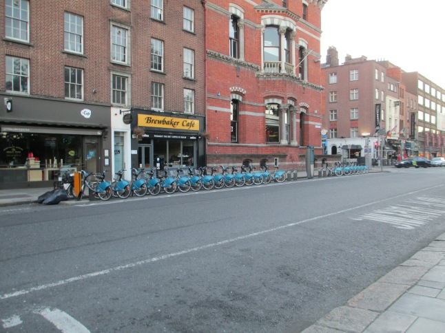 Bike share station in Dublin