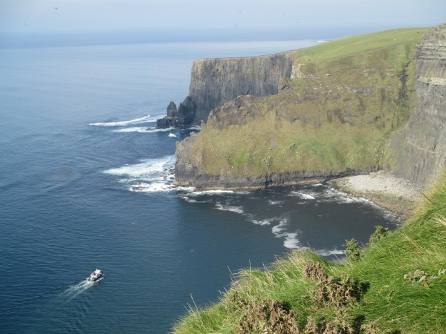 Tour boat at the Cliffs of Moher