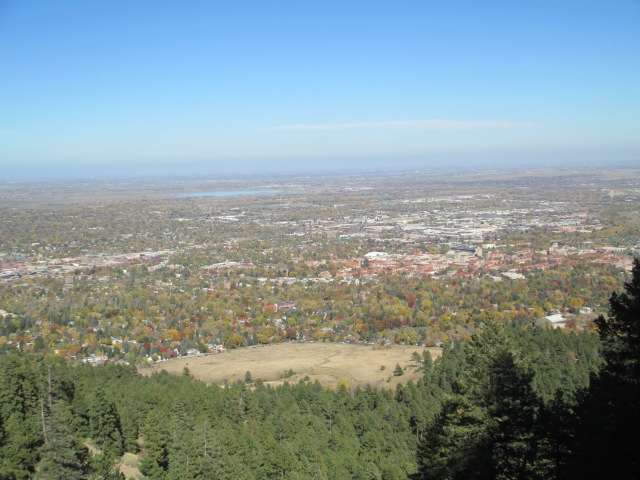 View of Boulder from the trail