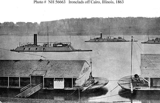 Ironclads off Cairo, IL - Source: en.wikipedia.org