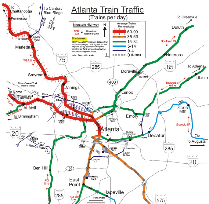 Mapping Atlantas train traffic Panethos