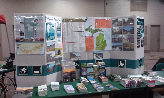 Always informative Michigan Trails and Greenways booth