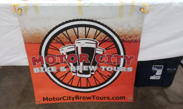 My favorite booth - bikes and beer!