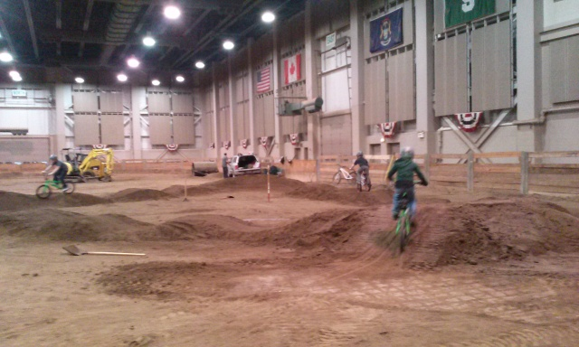 Giving the track a whirl