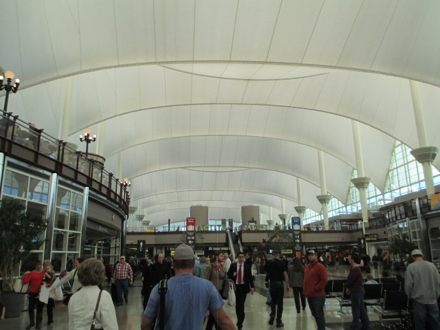 Inside Jeppesen Terminal at Denver International Airport
