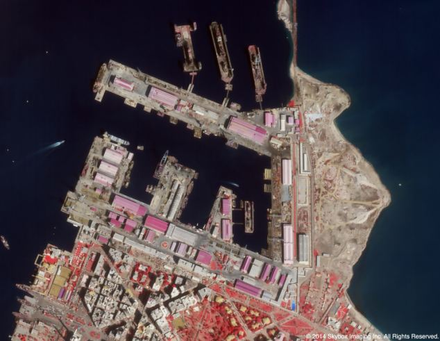 Port Said/Fuad, Egypt - Source: dailymail.co.uk/sciencetech/article-2575840/The-breathtaking-LIVE-satellite-footage-Earth-accurate-watch-cars-street-planes-taking-off.html