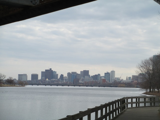 Downtown Boston in the distance