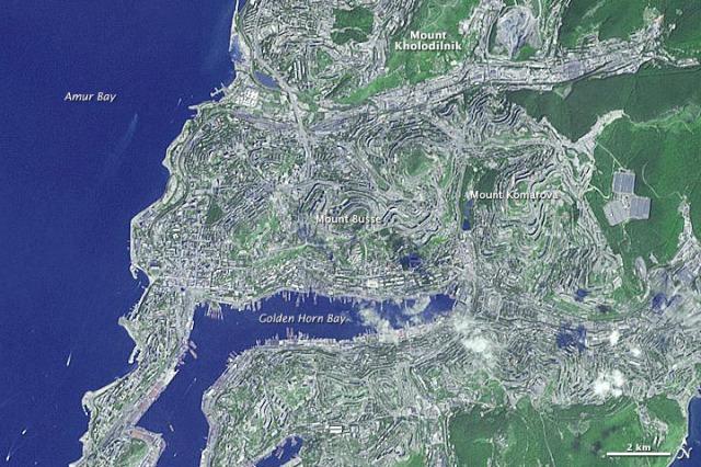 Vladivostok, Russia - Source: earthobservatory.nasa.gov