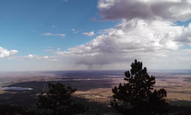 A rain shower on the plains