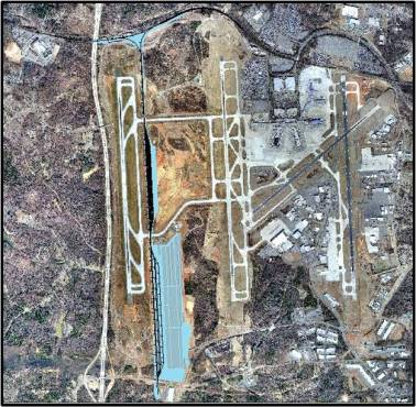 N/S Intermodal Terminal location at Charlotte Int'l Airport - Source: http://charmeck.org/city/charlotte/Airport/News/Pages/IntermodalFacilityFastFacts.aspx