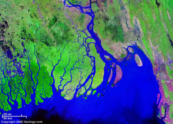 Exquisite equatorial river deltas from space | Panethos