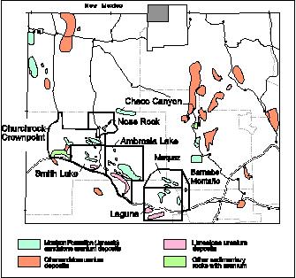 Grants Uranium District - Source: geoinfo.nmt.edu
