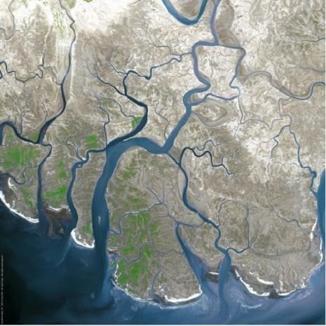Indus River delta, Pakistan - Source: jjexon. hubpages.com