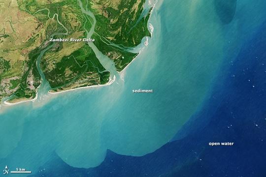 Zambezi River delta, Mozambique - Source: earthobservation.nasa.gov