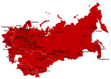 Map of gulags - Source: en.wikipedia.org