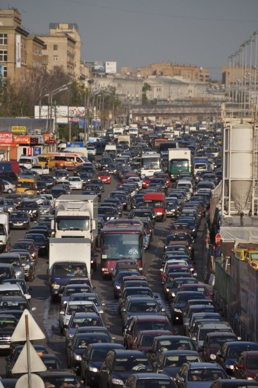 Traffic in Moscow - Source: panoramio,.com