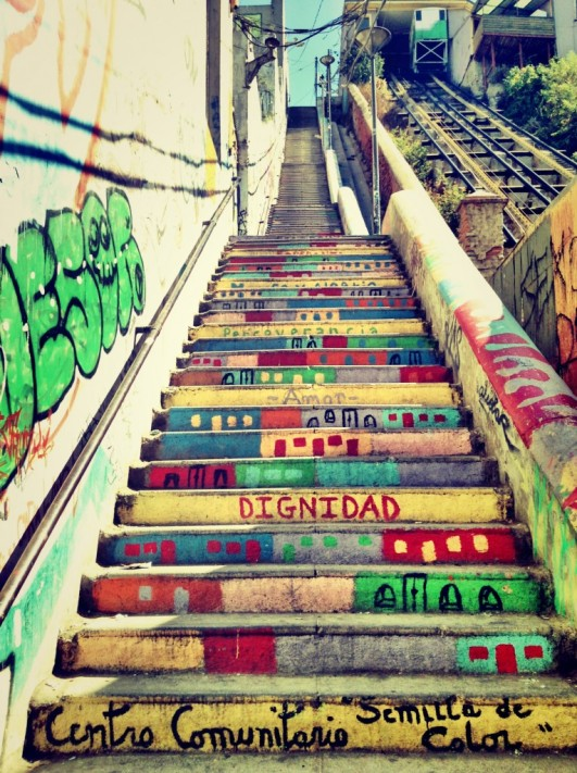 Red Bull Steps of Valparaiso, Chile - Source:  theplacesyoucango.com