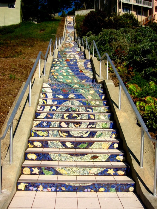 16th Avenue Tiled Steps of San Francisco - Source: tiledsteps.org