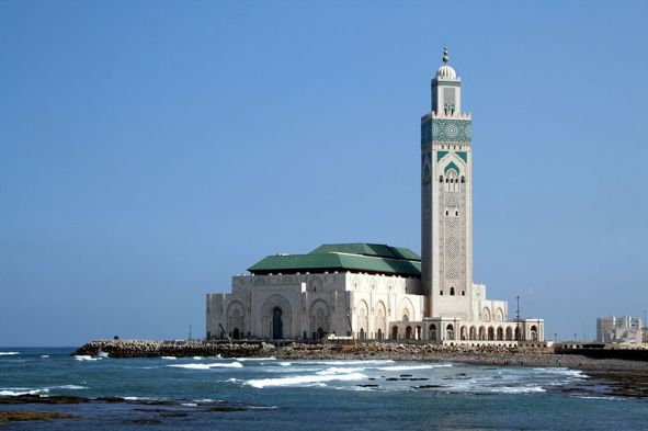 Hassan II Mosque in Casablanca, Morocco - Source: dunastour.com
