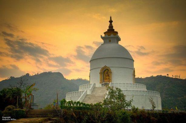 Pokhara, Nepal Peace Pagoda - Source: tripod.com