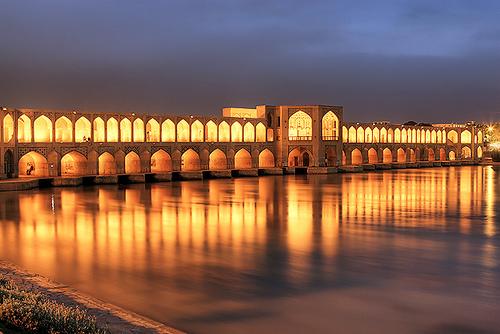 Khaju Bridge - Source: historicaliran.blogspot.com