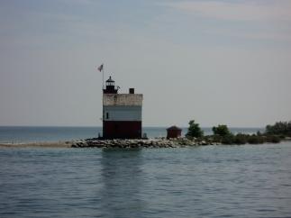 Round Island Lighthouse - across from Mackinac Island harbor