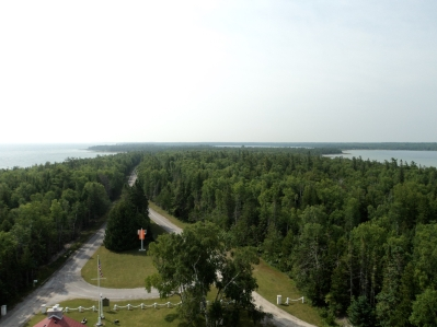 Awesome view south from the top of New Presque Isle Lighthouse