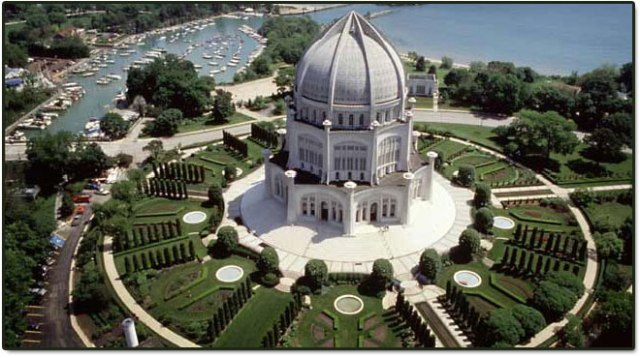 Wilmette-Chicago, USA (1953) - Source: www.bahai.in/bahai-house-of-worship/other-bahai-houses-of-worship