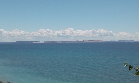 Sleeping Bear Dunes from South Manitou Island