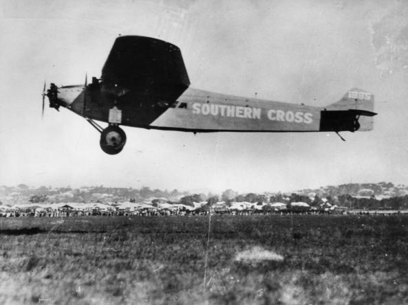 The Southern Cross landing at Brisbane Airport in 1928 - Source: thisdayinaviation.com