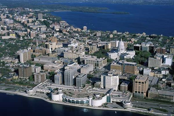 Downtown Madison, Wisconsin - Source: photos.news.wisc.edu