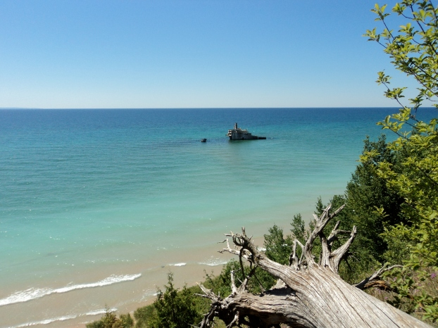 Shipwreck of the Francisco Morazan (1960) from South Manitou Island