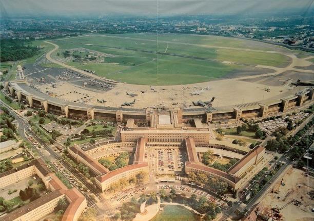 Templehof's concourses arc like wings of a bird of prey - Source: amusingplanet.com